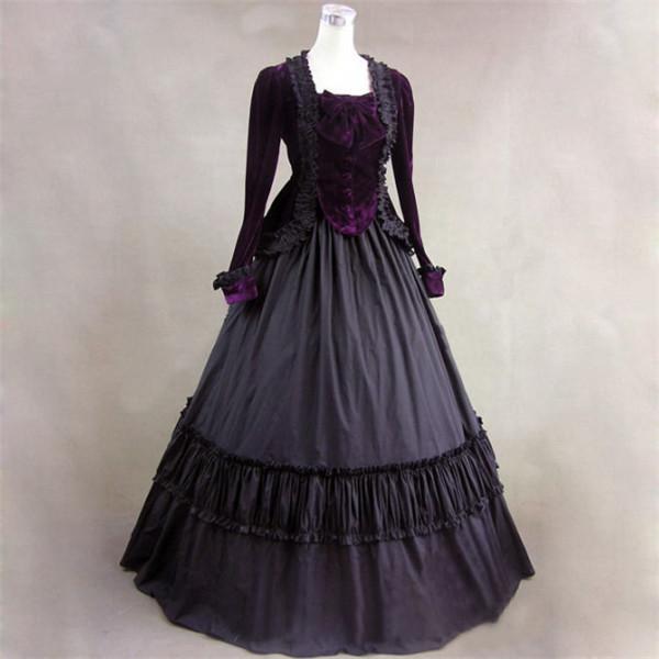 172a5f118d596 ゴシック風ドレス ブラック ハロウィン衣装 ヴィラン風