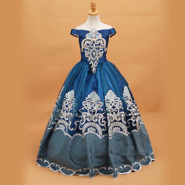 中世ヨーロッパ風 キッズ オフショルダードレス