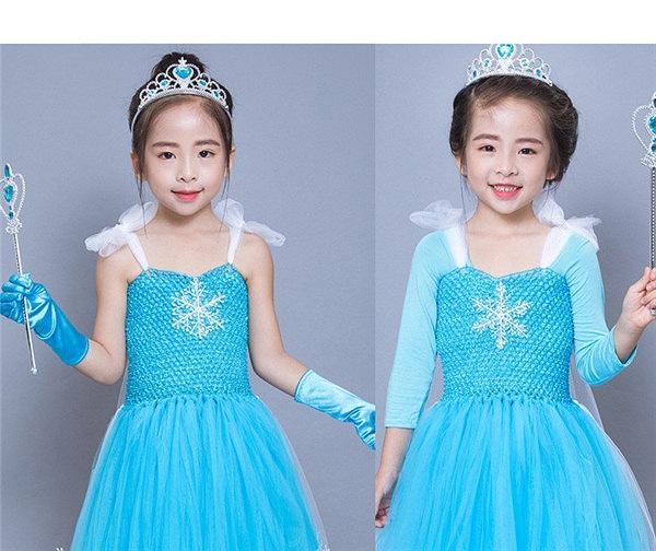 fa3e406d7b77d ハロウィン グリム童話 女の子 子供衣装 お姫様 ブルー ワンピース 長袖ワンピース スリーブワンピース コスチューム 天使 ロング