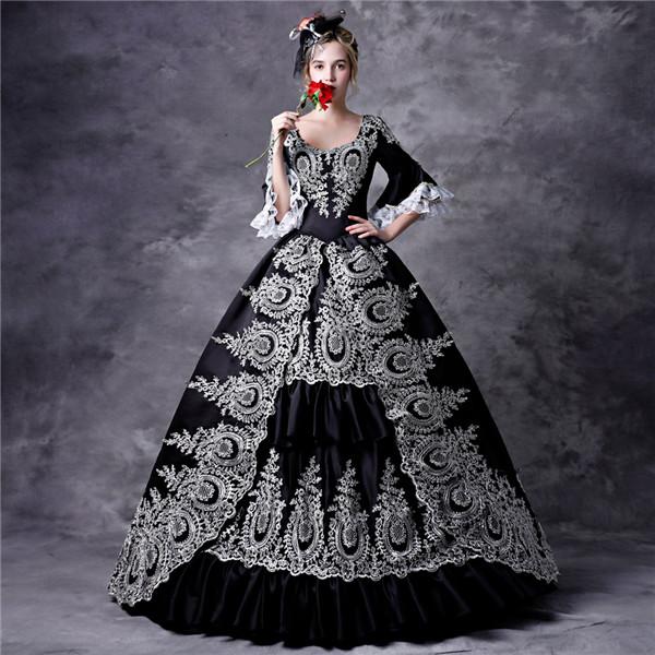 貴族 ドレス お姫様 衣装 カラー ロング 宮廷 お嬢様 ステージ衣装 大きいサイズ 舞台衣装 王族服 豪華なドレス
