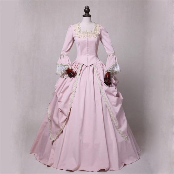 398471f720edf 貴族風ドレス ロングドレス ピンク