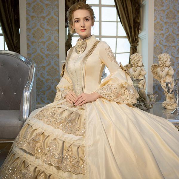 人気お姫様ドレス 中世 貴族 衣装 プリンセスライン ドレス 公爵夫人 宮廷服ドレス 舞台ステージ衣装演劇オペラ声楽 豪華に見えるお姫様ドレス 舞台  ステージ衣装としても最適 カラードレス サイズ指定可da728f0f0m2