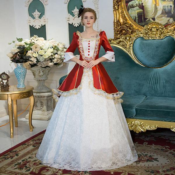 レースドレス ステージ衣装としても最適 人気お姫様ドレス プリンセスライン 公爵夫人 宮廷服ドレス 演劇オペラ声楽 豪華に見えるお姫様ドレス 中世  貴族 衣装 カラードレス サイズ指定可da792f0f0m2