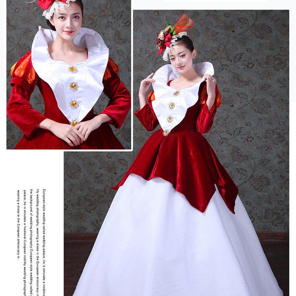 95382e82d7f53 貴族風ドレス ロングドレス ワインレッド ヴィラン風